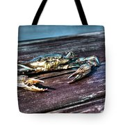 Blue Crab - Above View Tote Bag by Tommy Patterson