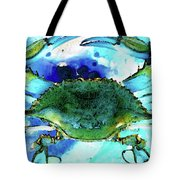 Blue Crab - Abstract Seafood Painting Tote Bag