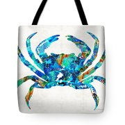 Blue Crab Art By Sharon Cummings Tote Bag