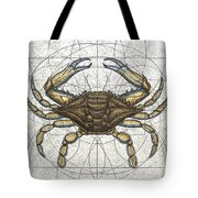 Blue Crab Tote Bag by Charles Harden