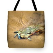 Blue Crab Hiding In The Sand Tote Bag