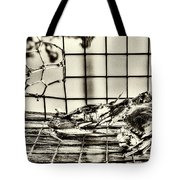 Blue Crabs - Vintage Tote Bag by Tommy Patterson