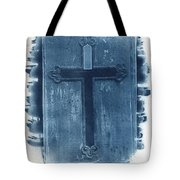 Blue Cross Tote Bag