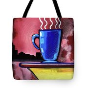Blue Cup Tote Bag