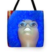 Blue Curled Cutie Tote Bag
