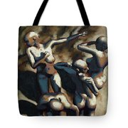 Blue Dancers Tote Bag