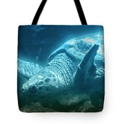 Blue Depths Sea Turtle Tote Bag