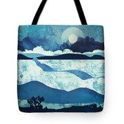 Blue Desert Tote Bag