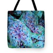 Blue Caladium Tote Bag