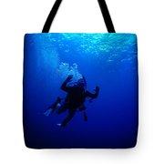Blue Diver Tote Bag
