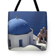 Blue Dome Pink Bell Tower Tote Bag