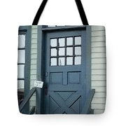 Blue Door At The Seaport Tote Bag