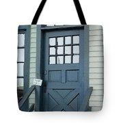 Blue Door At The Seaport Tote Bag