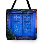 Blue Door In Old Town Tote Bag