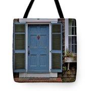 Nantucket Blue Door Tote Bag