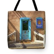 Blue Door On Canyon Road Tote Bag