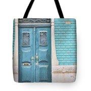 Blue Door, Portugal Tote Bag