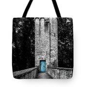 Blue Door Tower Tote Bag