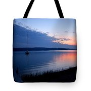 Blue Downtime Tote Bag