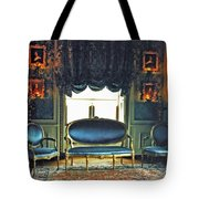 Blue Drawing Room Tote Bag by DigiArt Diaries by Vicky B Fuller