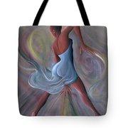 Blue Dress Tote Bag by Ikahl Beckford
