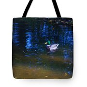 Blue Duck Tote Bag