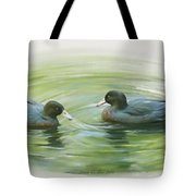 Blue Ducks  Tote Bag