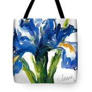 Blue Dutch Iris For Kappa Kappa Gamma Tote Bag