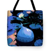 Blue Evening On The Pond Tote Bag