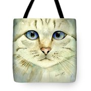 Blue-eyed Cat Tote Bag