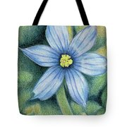 Blue Eyed Grass - 1 Tote Bag