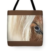 Blue Eyed Horse Tote Bag