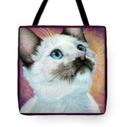 Blue Eyed Prayer Tote Bag