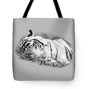 Blue Eyes - Black And White Tote Bag