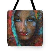 Blue Eyes Dark Oriental Tote Bag