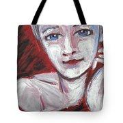 Blue Eyes - Portrait Of A Woman Tote Bag