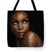 Blue Eyes Wild 3 Tote Bag