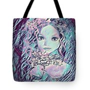 Blue Fairy Princess Tote Bag