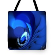 Blue Fan Leaves Tote Bag