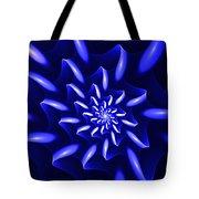 Blue Fantasy Floral Tote Bag