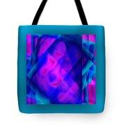 Blue Fashion Tote Bag