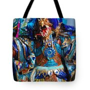 Blue Feather Carnival Costume Full Tote Bag