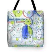 Blue February Tote Bag