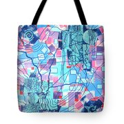 Blue Field Connections Tote Bag