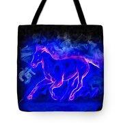 Blue Fire Horse - Da Tote Bag