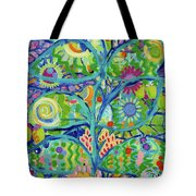 Blue Fish Forest Tote Bag