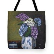 Blue Fish Vase Tote Bag
