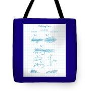Blue Fishing Lure Patent Tote Bag