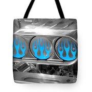 Blue Flames Tote Bag