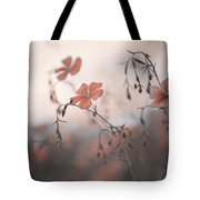 Blue Flax Flower. Aliens Tote Bag